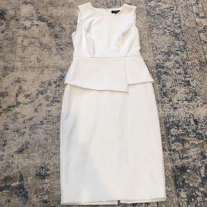White House Black Market Dress, Ecru, Size 0